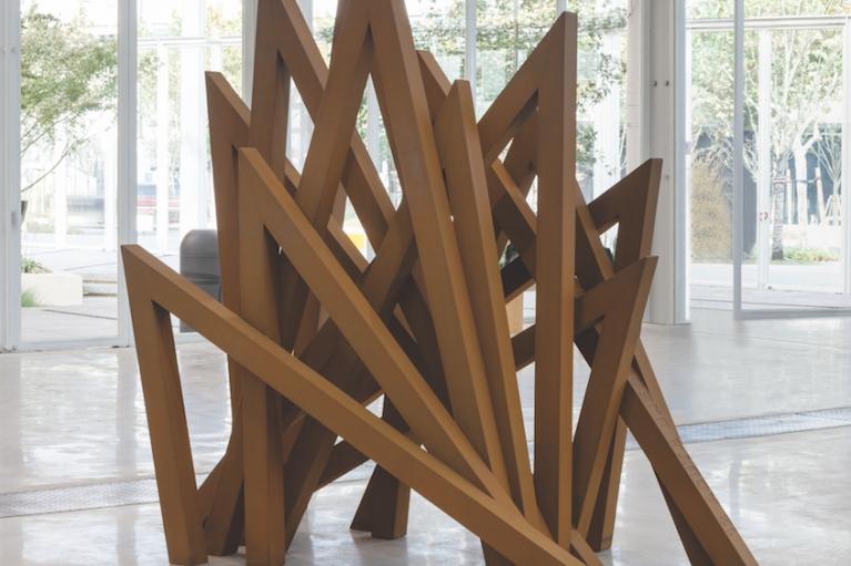 Bernar Venet, 12 Acute Unequal Angles, 2016, Cor-ten steel, 228 x 115 x 240 cm