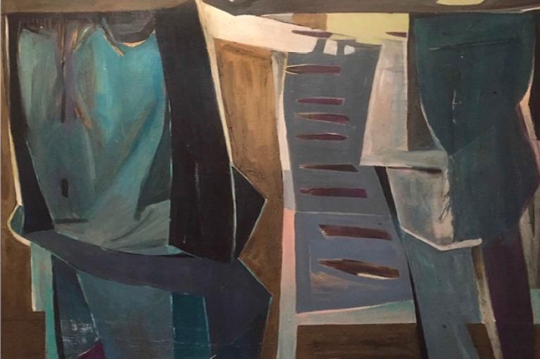陈文希,Bombing,1960年作,油画 画布,79 x 99.1 厘米