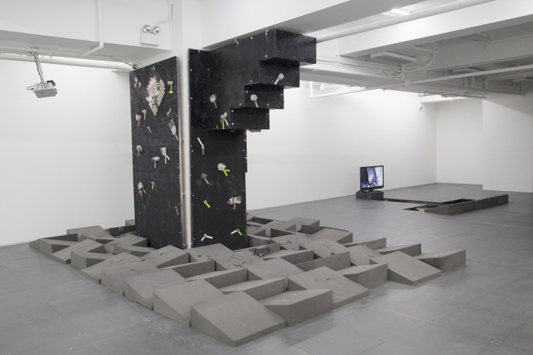 Andrew Luk, Black Square Problem Setting (we're talking about practice), 2017.