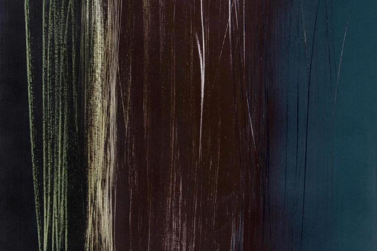 Hans Hartung, T1962-R9, 1962. Vinylique on canvas, 180 x 142 cm.