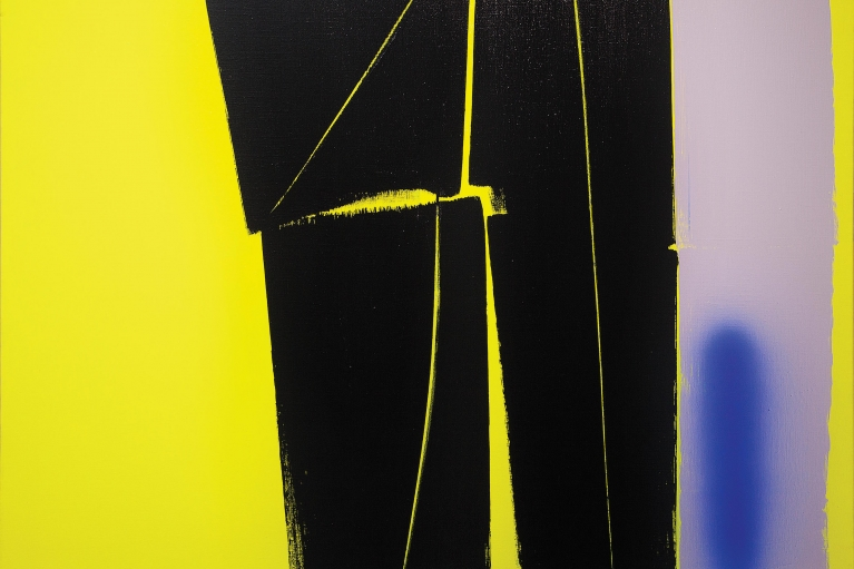 Hans Hartung, T1970-H40, 1970. Acrylic on canvas, 102 x 130 cm.