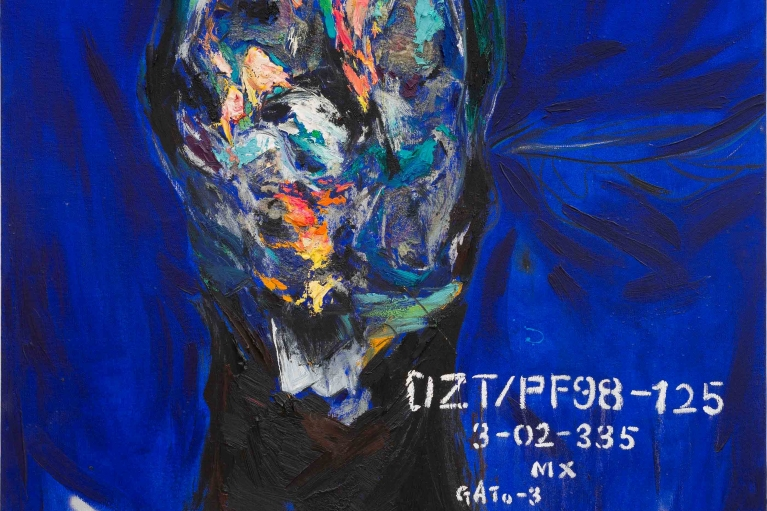Qin Lingsen, DZT/PF98/010, 2016. Oil on canvas, 150 x 120 cm