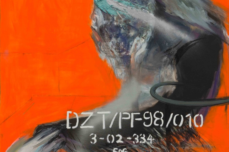 Qin Lingsen, DZT/PF98/010, 2016. Oil on canvas, 140 x 120 cm
