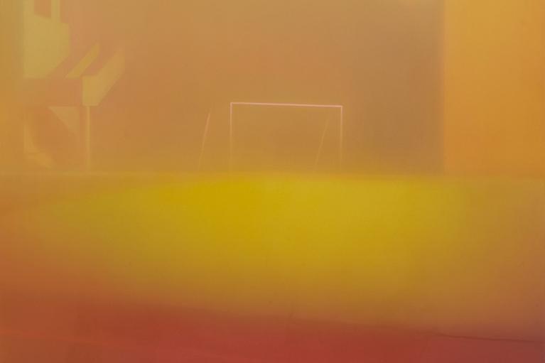 马思博, 操场, 2016, 布本油画, 150 x  140 厘米