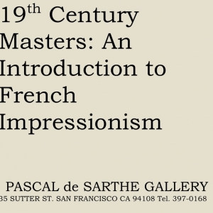 19th Century Masters: An Introduction to French Impressionism