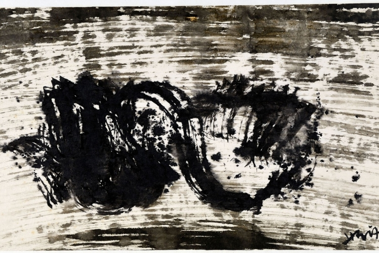 Hsiao Chin, Emptiness, 1961.09.16, Ink on paper, 30 x 58 cm