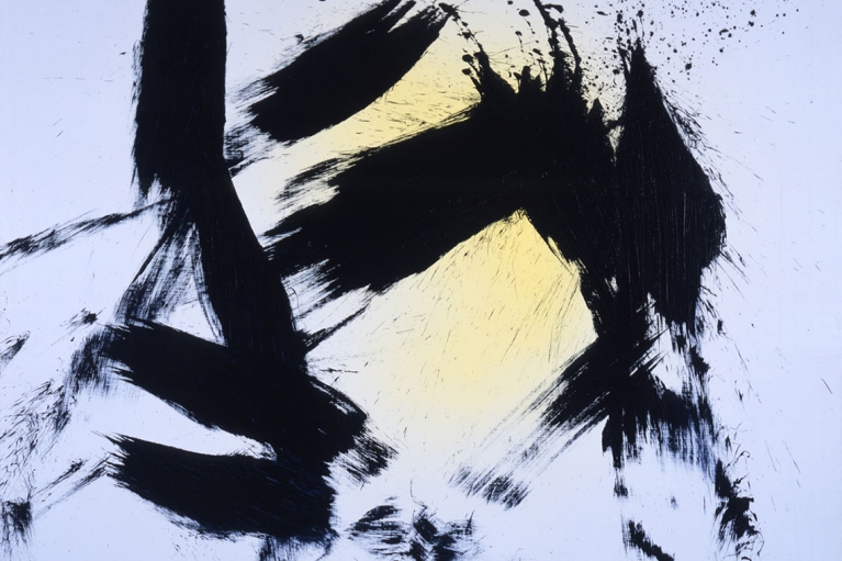 Hans Hartung, T1981-H21, 1981, Vinyl paint on canvas, 142 x 180 cm