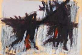 Jack Tworkov, Untitled, 1963, Oil and graphite on paper laid down on Masonite, 76.2 x 101.6 cm