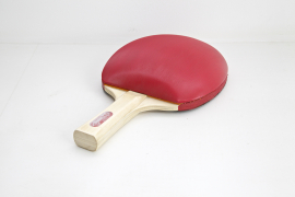 Zhou Wendou, Table Tennis bat No. 2, 2009, Tennis de table, éponge, cuir artificiel, 25 x 15 x 8 cm