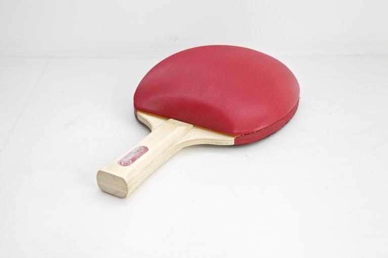 Zhou Wendou, Table Tennis bat No. 2, 2009, Table Tennis bat, sponge, imitation leather, 25 x 15 x 8 cm