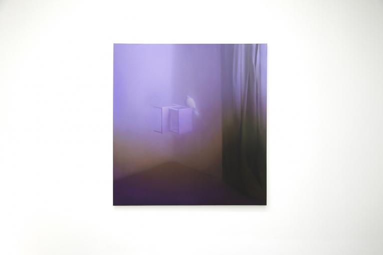 马思博, 角落, 2012, 布料油画, 150 x 140厘米