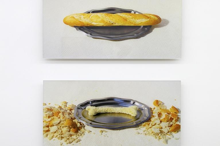 周文斗,法棍,2004,喷绘打印,37.5 x 60 厘米 x 2