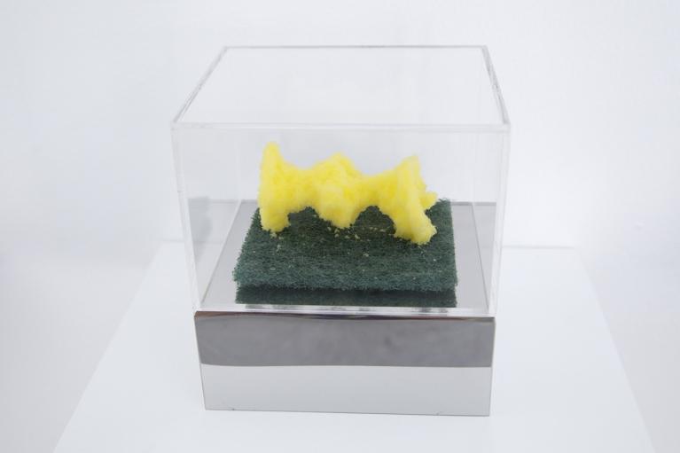 周文斗, 海绵 - 苹果核, 2006, 海绵, 9 x 6 x 4.5厘米