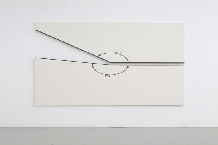 伯纳尔·威尼斯, 143º 和190º 兩個角度的位置, 布本丙烯, 190 x 190 厘米