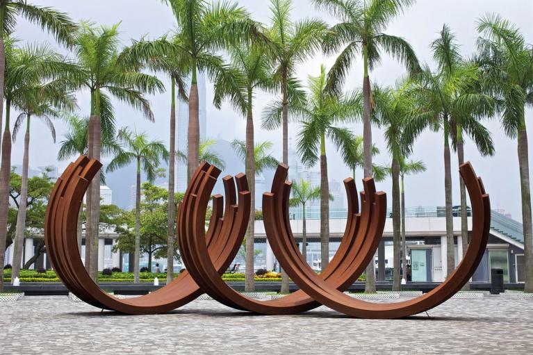 伯納爾·威尼斯, 218.5º 弧形 x 21, 2006, Corten 鋼, 330 x 410 厘米