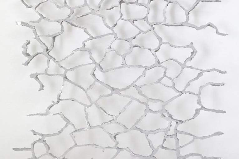 Zhou Wendou, Untitled (Riverbed No.3), 2015, Aluminum, 180 x 120 x 5 cm