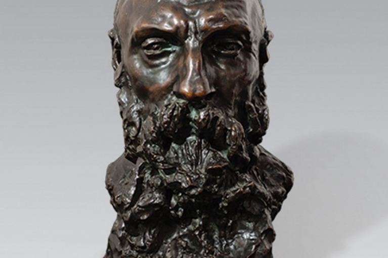 Buste d'Auguste Rodin, Untitled, Conceived c. 1888-1889, Executed in 1892, Bronze with dark brown patina, 40.7 x 26 x 28 cm