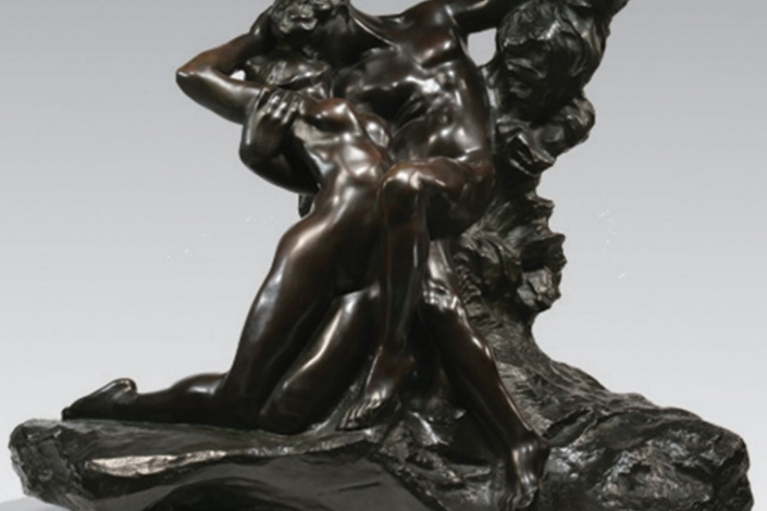 Eternel Printemps, Second état, 1ère reduction, conceived c.1884, executed c.1898-1907, Bronze with dark brown patina, 66.2 x 83 x 41 cm