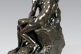 Le Baiser, deuxième réduction, Conceived 1886, Reduction created in 1904, Executed in 1910-1918, Bronze with brown patina, 59.8 x 36.5 x 37.5 cm