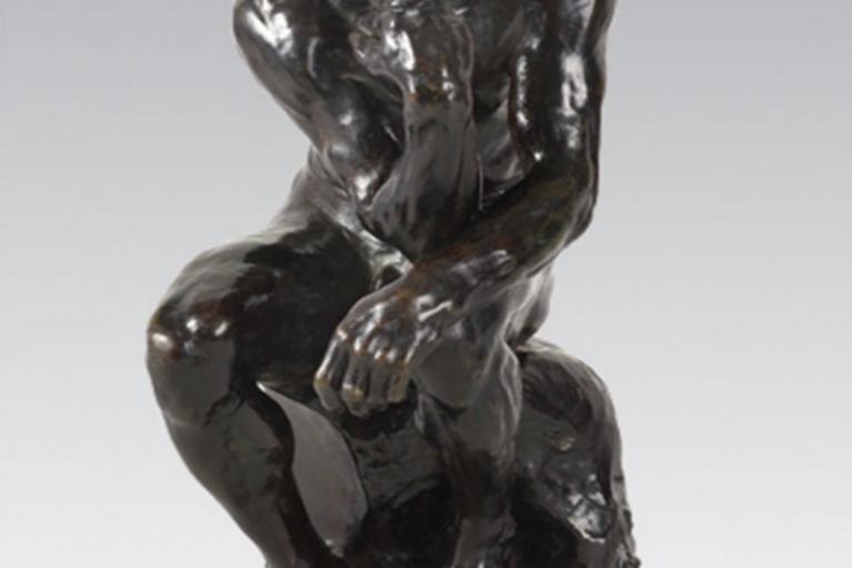 Le Penseur, petit modèle, variante avec base arrondie, Augeste Rodin, 約1905完成, 模型構思約於1880-1881, 青銅, 38 x 21 x 28.4 厘米