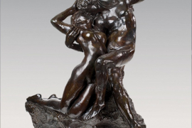Eternal Printemps, premier état, taille originale – variante type C, conceived c.1884, executed c.1887-1894, Bronze with dark brown patina, 67.2 x 54.8 x 36.3 cm