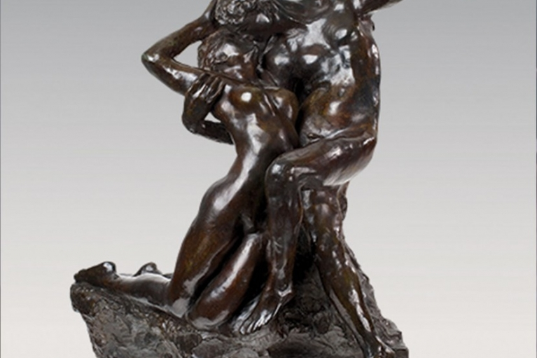 Eternal Printemps, premier état, taille originale – variante type C, conceived c.1884, executed c.1887-1894, Bronze with dark brown patina, 67.2 x 54.8 x 36.3 cm