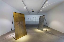Zhou Wendou, Precious Metal, 2017. Brass, coins, 93.5 x 195 x102 cm each. (Installation view)