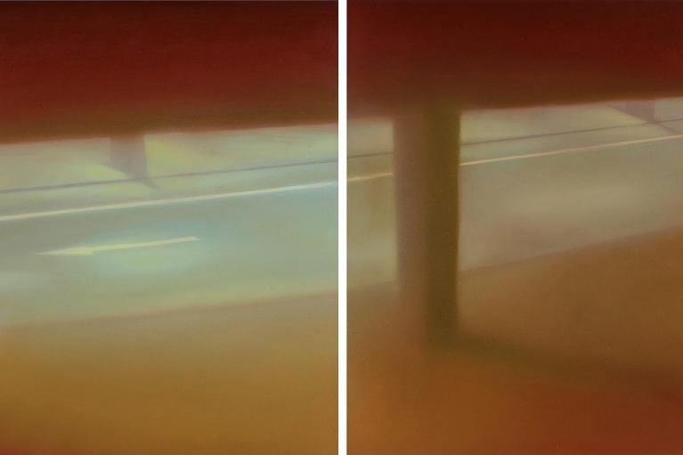 馬思博, Air Terminal, 2016, 布面油畫, 50 x 40 x 4 厘米