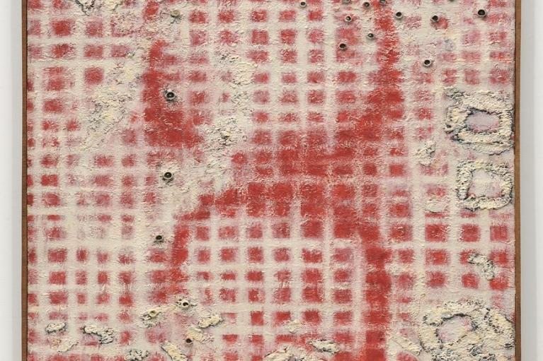 上前智祐, 无题, 1963, 布本油画, 117 x 91 厘米