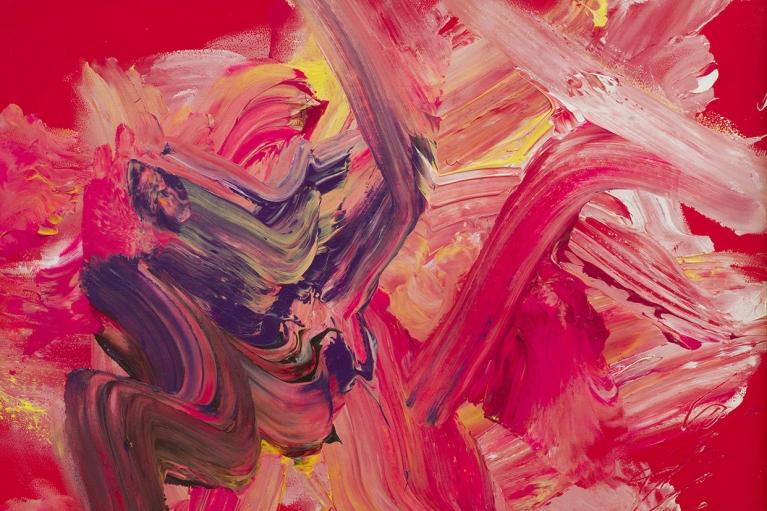 白发一雄, Rose Festival, 1988, 纸本亚克力, 94.5 x 120 厘米
