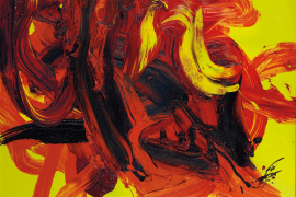 Kazuo Shiraga, Dattan, 1988, Oil on canvas, 112 x 162 cm