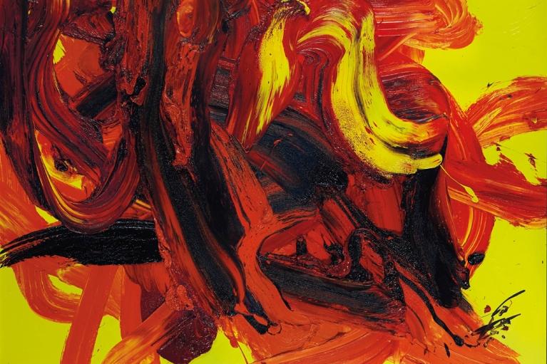 Kazuo Shiraga, Dattan, 1988, Oil on canvas, 112 x 162 cm