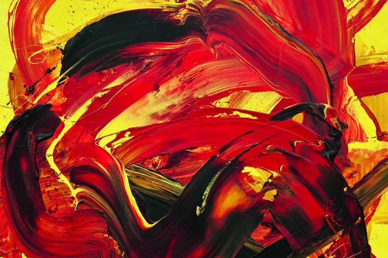 Kazuo Shiraga, Dattan, Shunie No Gyo, 1973, Oil on canvas, 130 x 162 cm