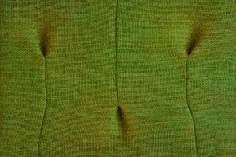 Tsuyoshi Maekawa, Untitled, 1975, Acrylic, sewn burlap, 70.5 x 33 cm