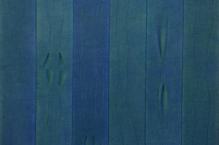 前川强, 无题, 1975, 亚克力, 粗麻布, 161.5 x 128 厘米