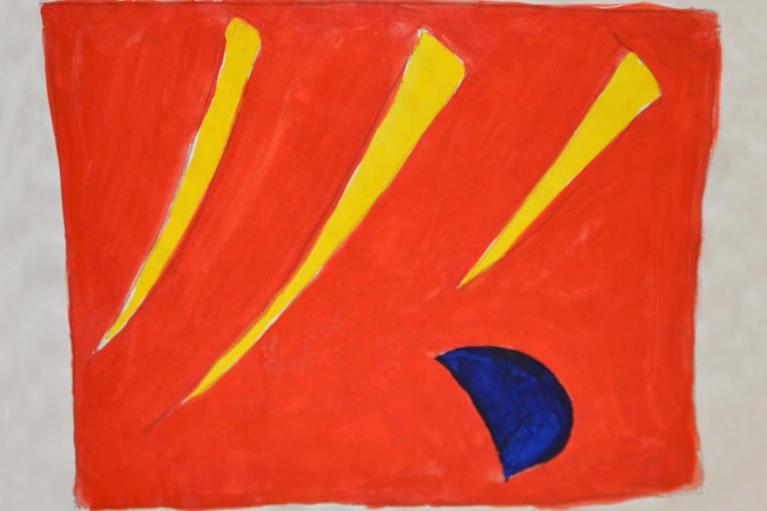 吉原治良, 無題, 約 1960 - 1970, 纸本亚克力, 36 x 45 厘米