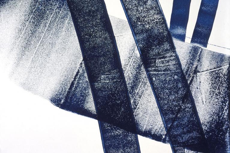 漢斯·哈同, T1975 - E18, 1975, 布本丙烯, 97 x 130 厘米
