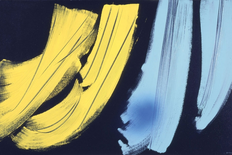 漢斯·哈同, T1973 - H42, 1973, 布本乙烯基, 111 x 180 厘米