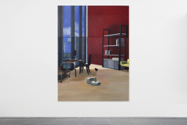 Mak Ying Tung 2, Home Sweet Home: Rosy Roomba, 2019, Acrylic on canvas, 200 x 150 cm