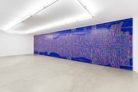 Lu Xinjian, Reflections/ Hong Kong, 2016, Acrylic on canvas, 300 x 1200 cm (Installation view)