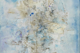 Zao Wou-Ki, Untitled, 1956, Watercolor on paper, 40.5 x 33 cm