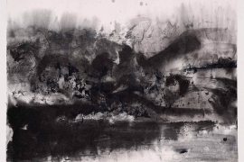 Zao Wou-Ki, Untitled, 1969, Ink on paper mounted on cardboard, 24 x 31 cm