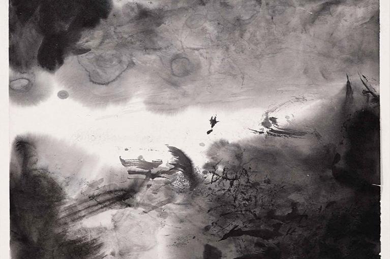 Zao Wou-Ki, Untitled, 1971, Ink on paper, 34 x 33.5 cm