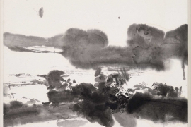Zao Wou-Ki, Untitled, 1975, Indian ink on Japan paper, 33.5 x 45.5 cm