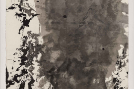 Zao Wou-Ki, Untitled, 1984, Indian ink on paper, 103.5 x 103.5 cm
