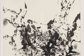 Zao Wou-Ki, Untitled, 1984, Ink on paper, 103 x 103 cm