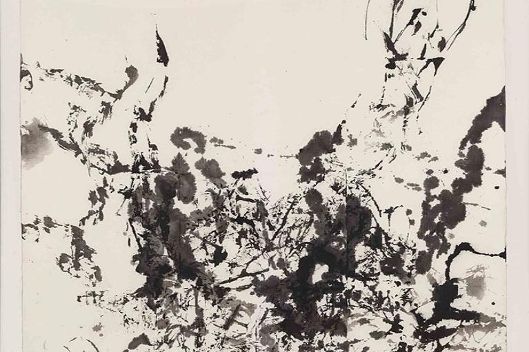Zao Wou-Ki, Untitled, 1984, Ink on paper, 103 x 103 cm