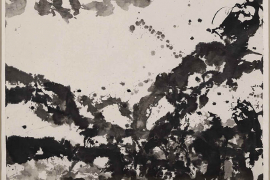 Zao Wou-Ki, Imaginary Landscape, 1984, Ink on paper, 102 x 104 cm