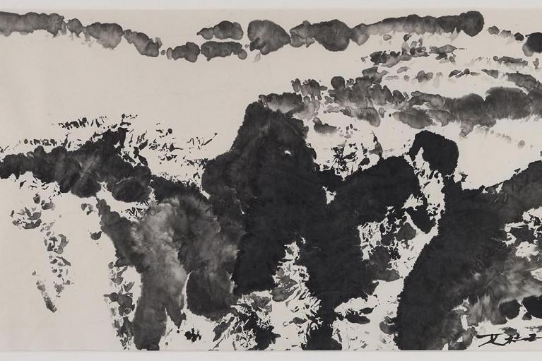 Zao Wou-Ki, Untitled, 1986, Ink on paper, 120 x 165 cm