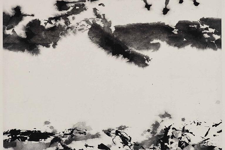 Zao Wou-Ki, Untitled, 1994, Ink on paper, 60 x 60 cm